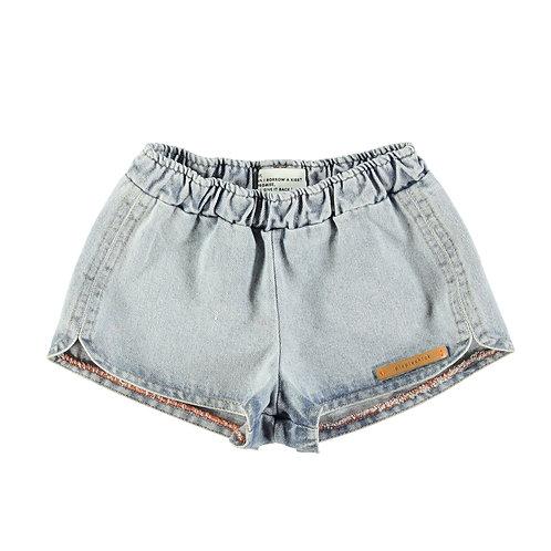 Runner shorts-Blue Washed denim
