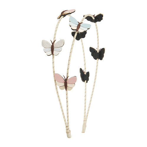 Rainforest butterfly double alice band