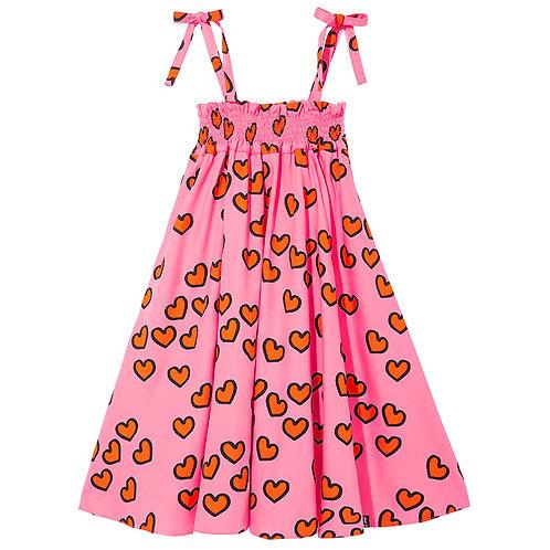 SHOULDER STRAP DRESS | PINK HEARTS