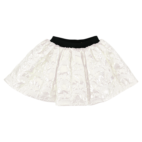 MAT METAL SKIRT WHITE