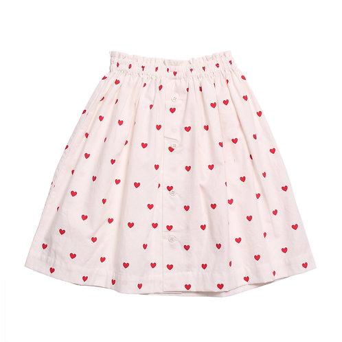 Fulla Skirt ECRU/RED