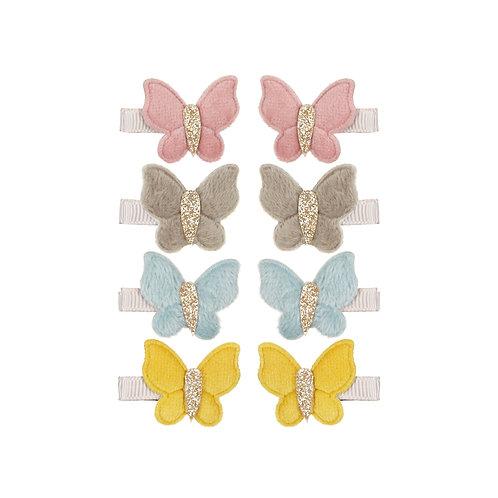 Velvet butterfly clip pack