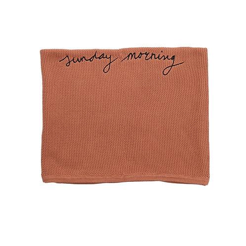 Funky Flamingo / Knit Blanket