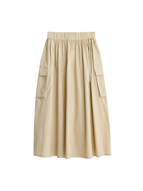 Miller organic cotton skirt-Sand