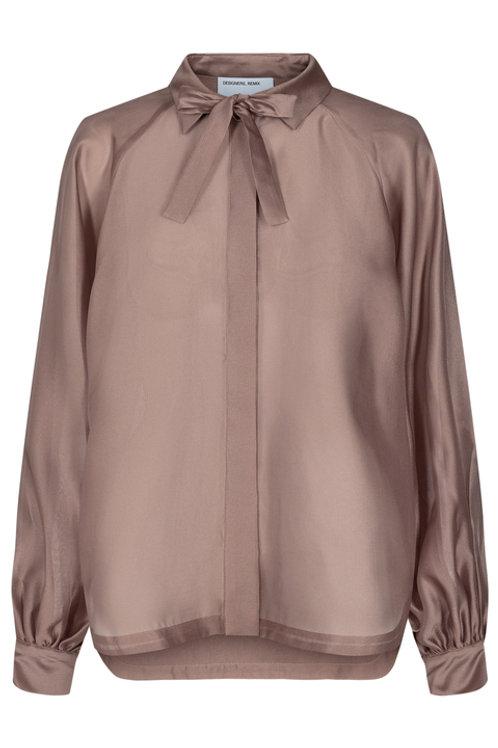 Enola Sleeve Shirt-Brown