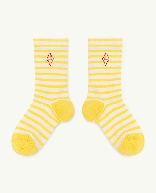 Snail Kids Socks Yellow Logo
