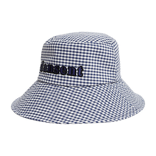 Wide Brim Hat BLUE GINGHAM