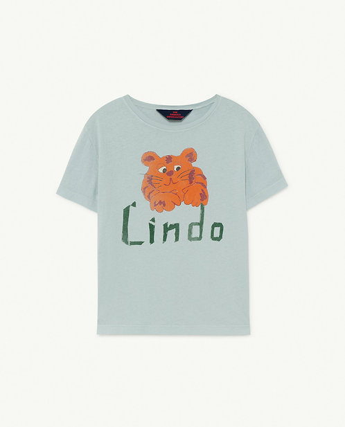 Rooster Kids Tshirt Blue Lindo