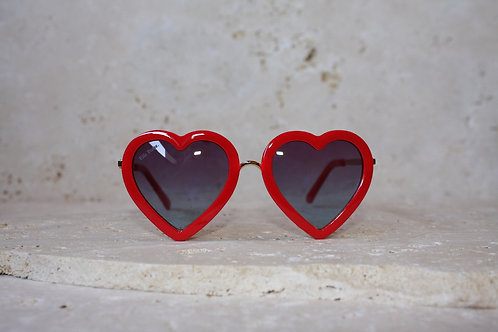 Sunglasses Red Hearts