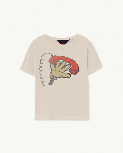 Rooster Kids Tshirt White Telephone