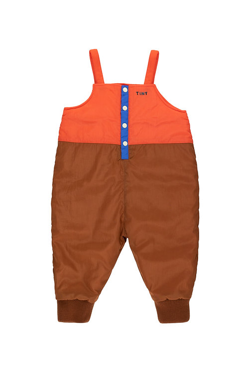 COLOR BLOCK DUNGAREE-BROWN/RED