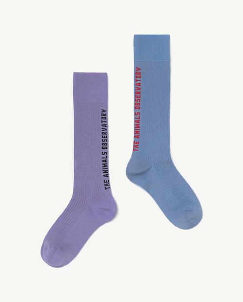 Kid Soft Purple Worm Socks
