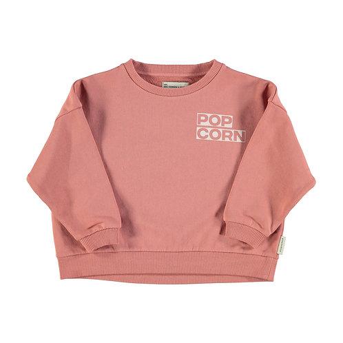 Unisex Sweatshirt Pink Popcorn