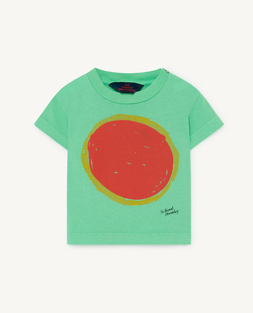 Green Rooster Baby T-Shirt