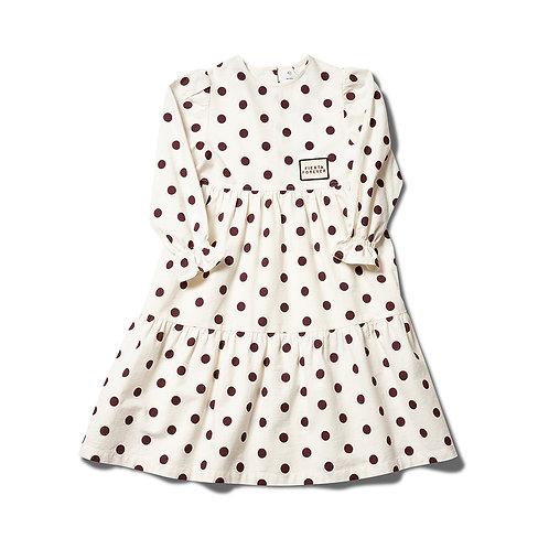 Forever Dress - Burgundy / Ecru