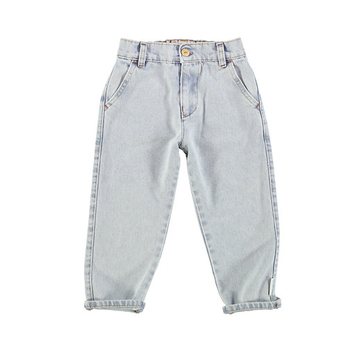 Unisex Trousers- Light Blue Denim Washed