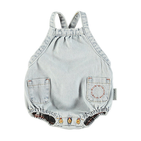 Baby Sleeveless Romber- Light Denim Blue Washed
