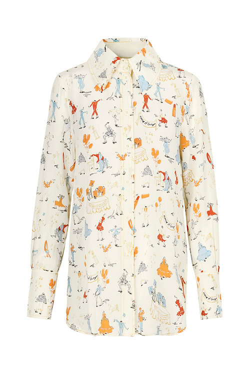 James Shirt - Dancers White