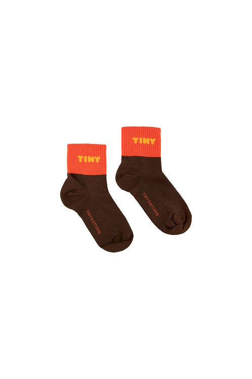 """TINY"" QUARTER SOCKS BROWN"