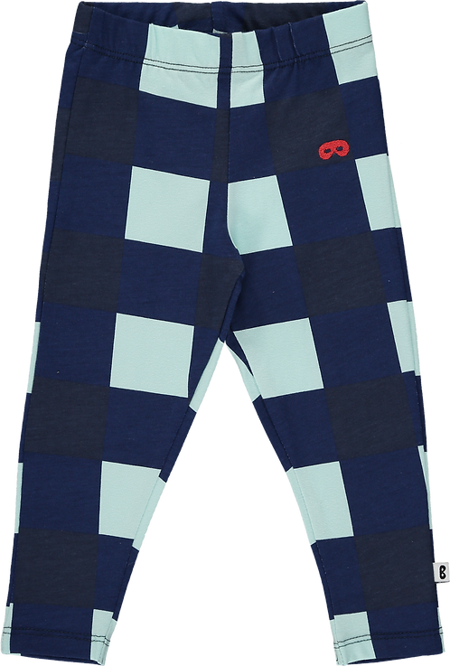 Baby Leggings Gingham Navy