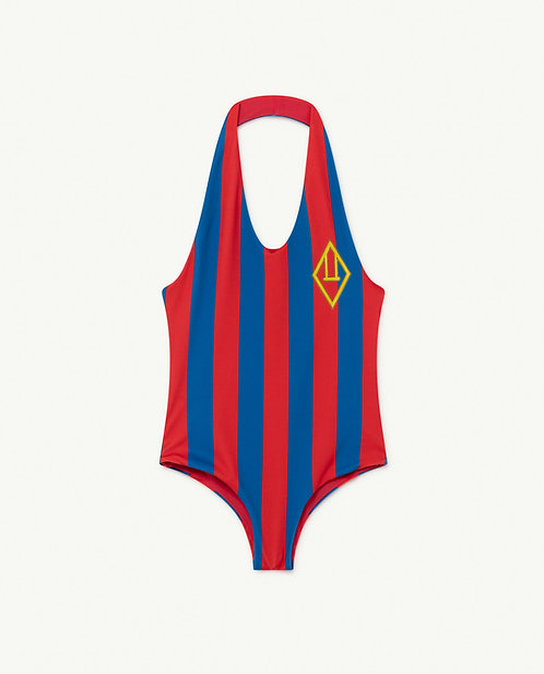 Fisk Kids Swimsuit Red Stripes