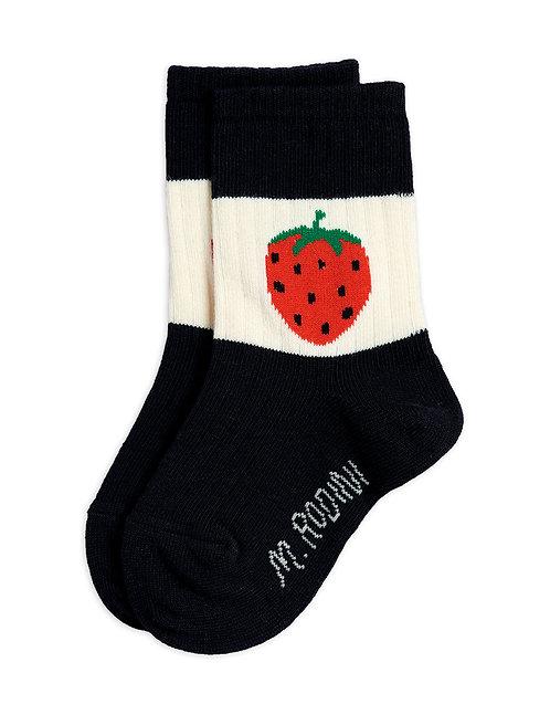 Strawberry ribbed socks