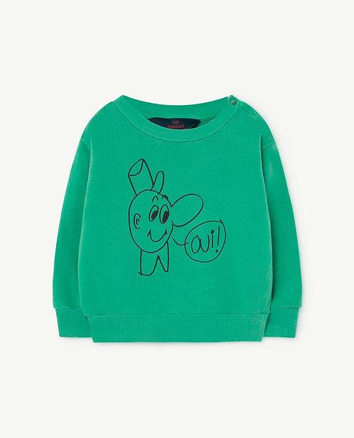Green Baby Bear Sweatshirt