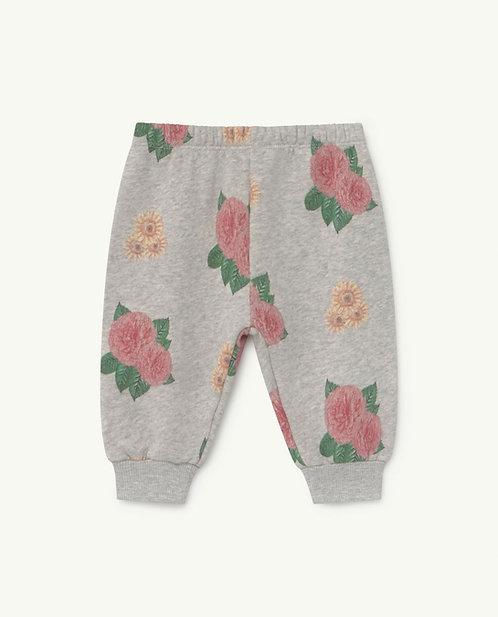 Baby Grey Flowers Dromedary Jersey Pants