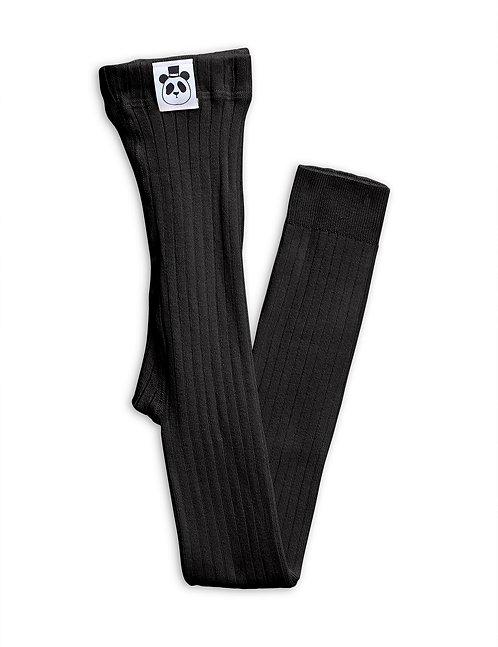 RIB LEGGINGS BLACK
