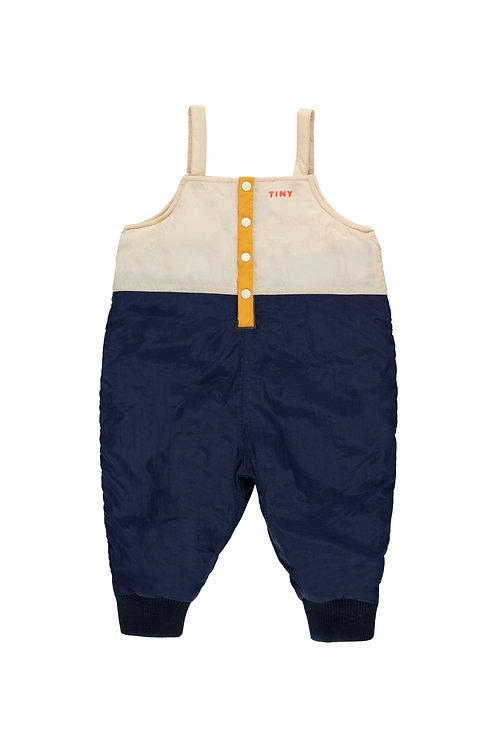 COLOR BLOCK DUNGAREE-NAVY BLUE