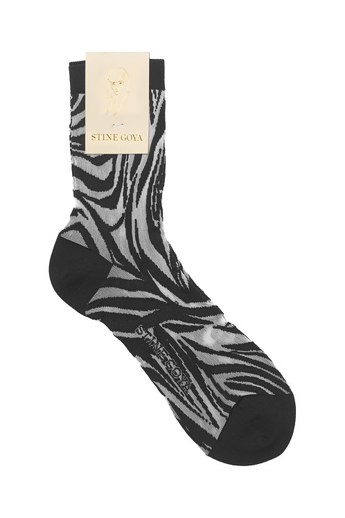Tilly Socks - Zebra Black