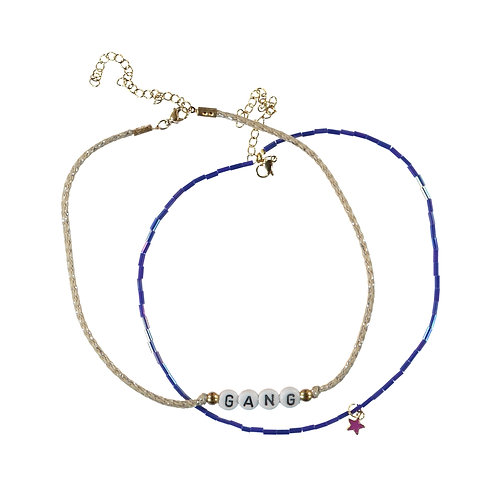 Necklace Gang Blue Beads