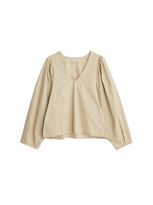 Diosmara organic cotton shirt- Sand