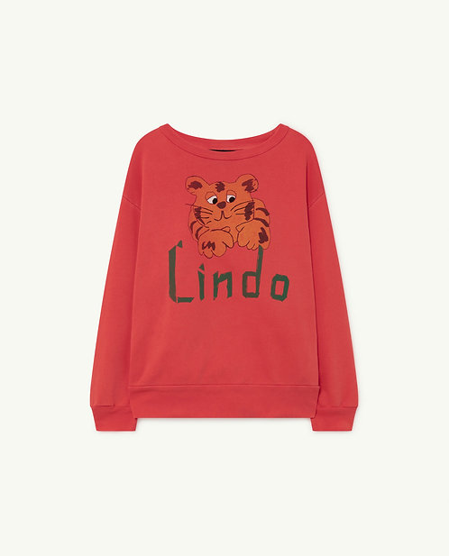 Bear Kids Sweatshirt Red Lindo