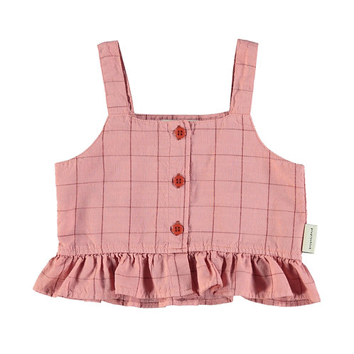 Top Pink Checkered