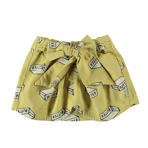 Short bow skirt light yellow