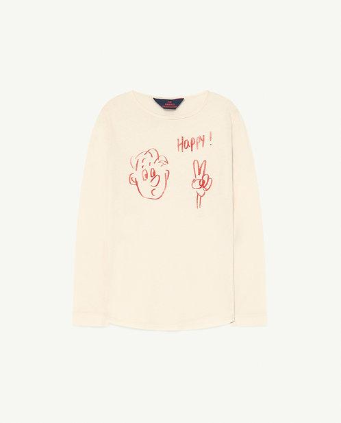 White Happy Cricket T-Shirt