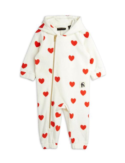 Hearts fleece onesie