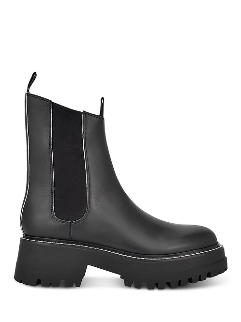 BLACK  MULTI LEATHER BOOTS