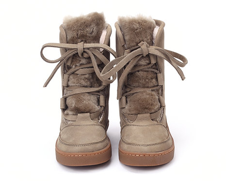 SONNY LINING-Sage Betting Leather + Stone Sheep Wool