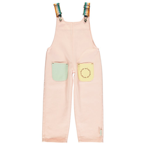 Multicolor Dungarees-Pale Pink
