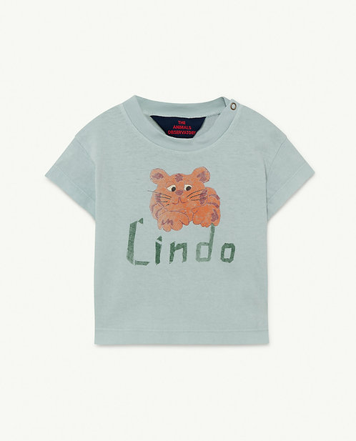 Baby Rooster Tshirt Blue Lindo