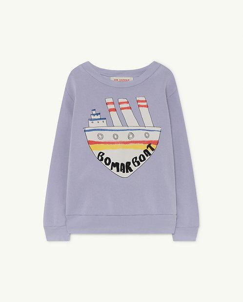 Bear Kids Sweatshirt Soft Purple Boat