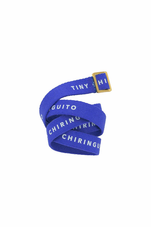 TINY CHIRINGUITO BELT iris blue/off-white
