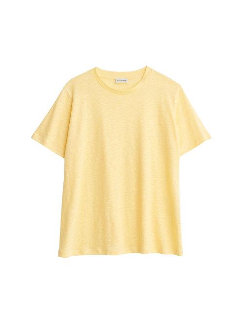 Geena organic linen t-shirt-Vanilla