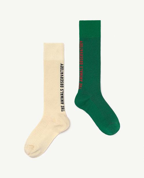 Kid Soft Green Worm Socks