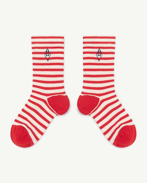 Snail Kids Socks Red Logo