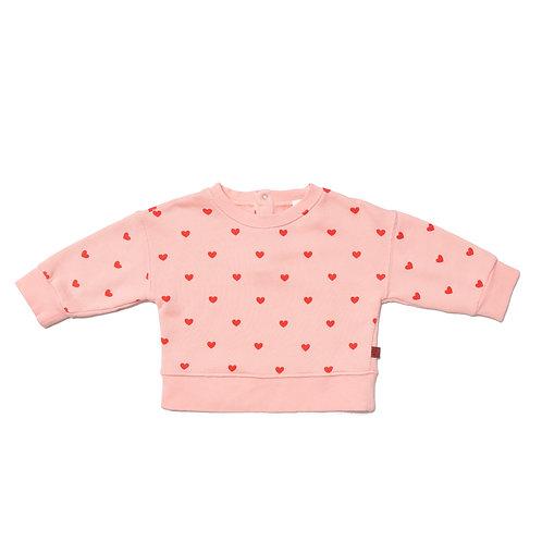 BABY BLOUSON SWEAT-BLUSH PINK/RED