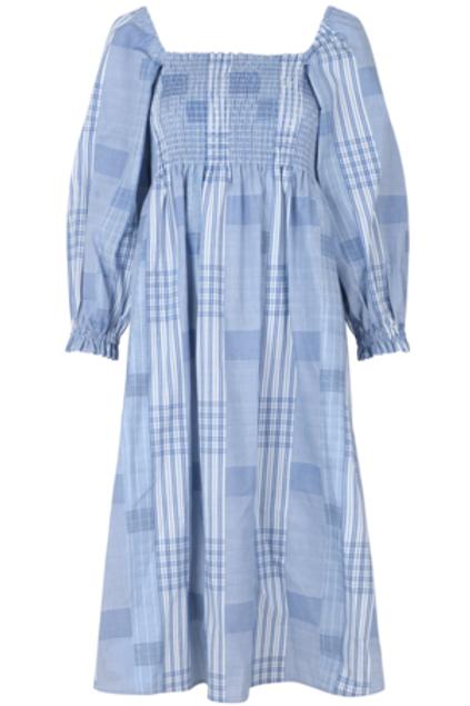 FOLLOMA DRESS, BLUE