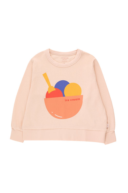 Ice Cream Sweatshirt- Pastel Pink/Papaya
